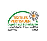 Logo textiles vertrauen - Qualität